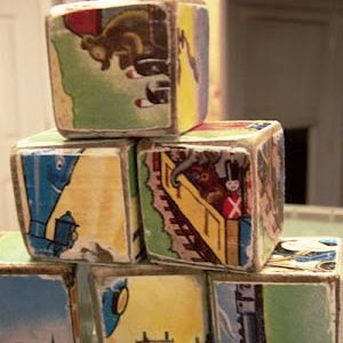 Wooden Story Blocks by Homespun Mom